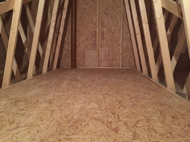 OSB Attic Flooring installed by Original Attic Stairs