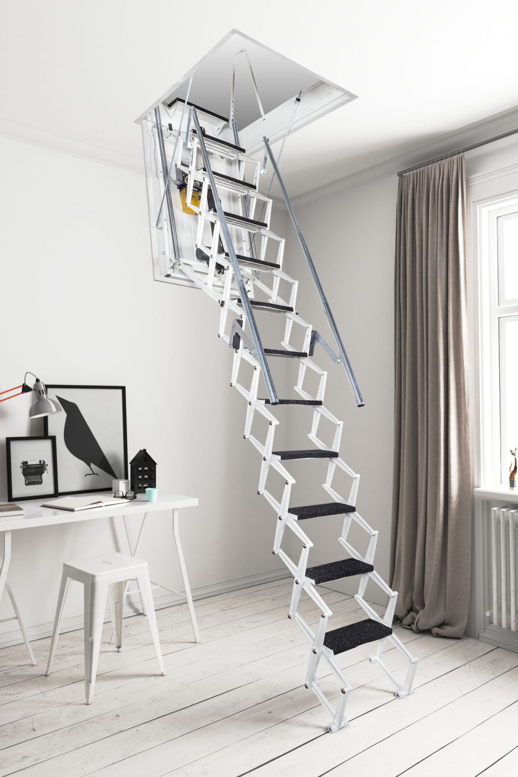 Automatic Electric Retractable Attic Stairs